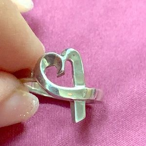 Tiffany Paloma Picasso heart ring sterling silver
